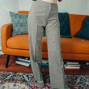 Ann Taylor Vintage Plaid High waist tailored pants